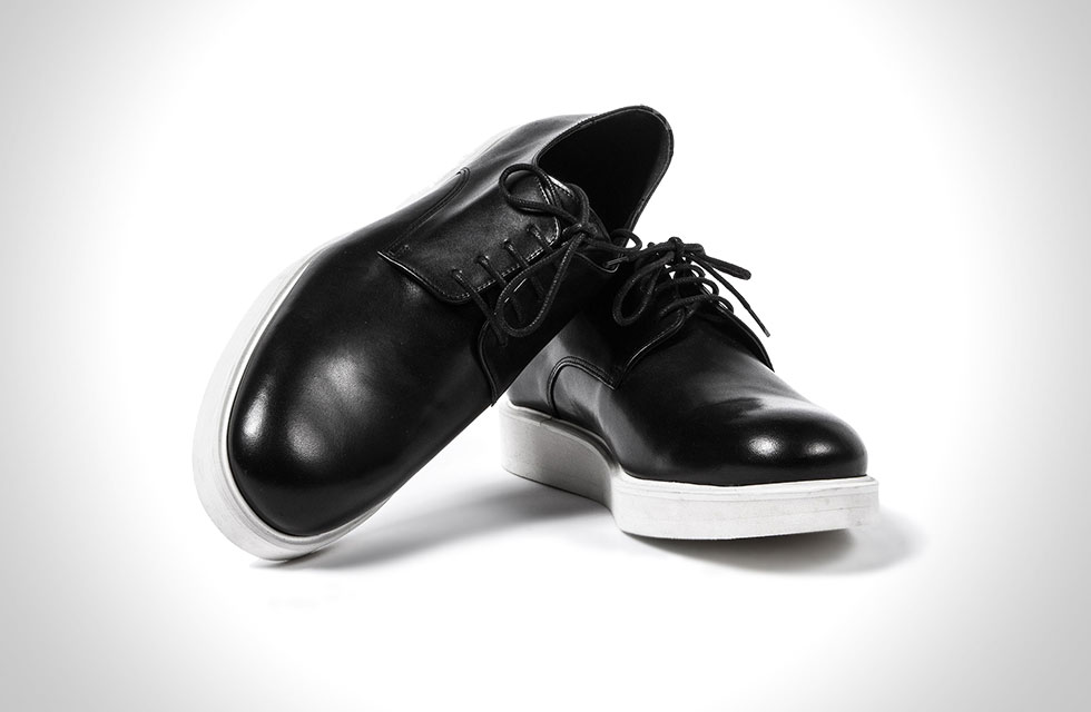 Midnight Creeper Matt Black Leather Lace-up shoes
