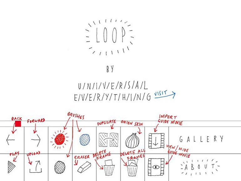 Loop Animation App Menu