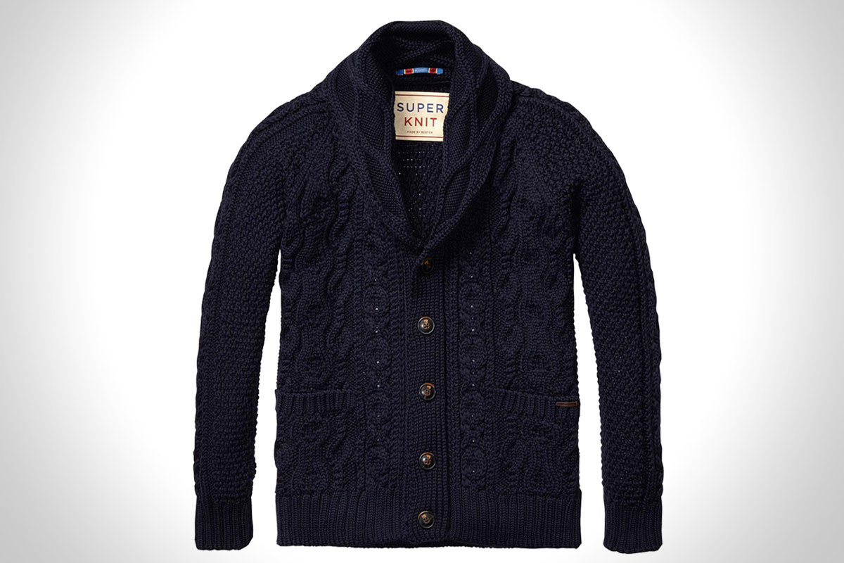 Heavy Cable Super Knit Cardigan
