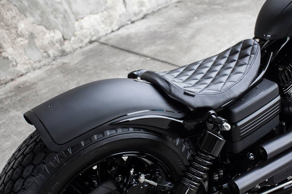 Harley Davidson 2009 Fat Bob Dyna Guerilla By Rough: ROUGH CRAFTS FAT BOB DYNA GUERILLA MOTORCYCLE