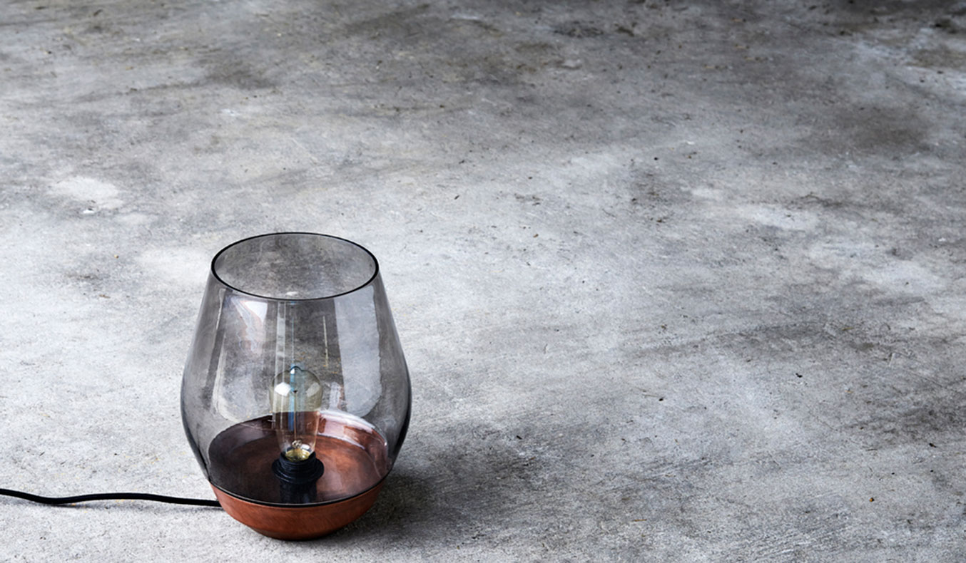 THE BOWL TABLE LAMP BY NEW WORKS