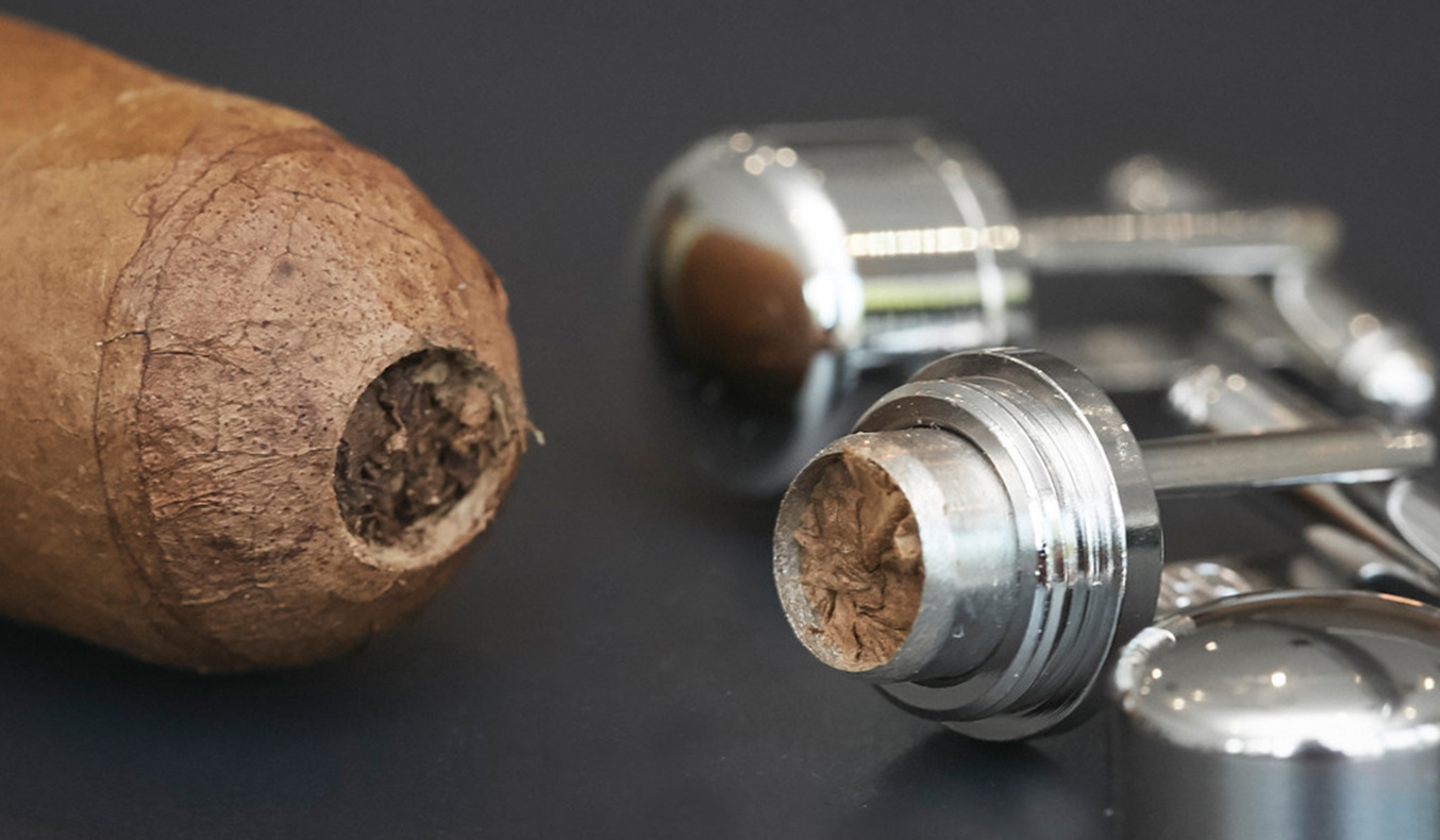 CIGAR PUNCH CUFFLINKS