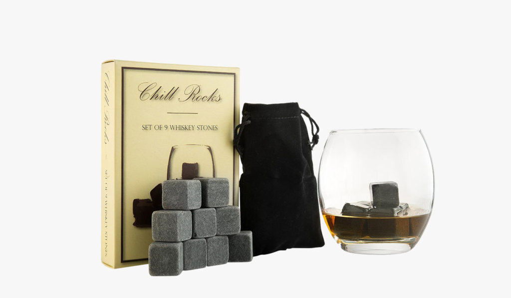 Grey Beverage Whiskey Stones   gifts for whiskey lovers