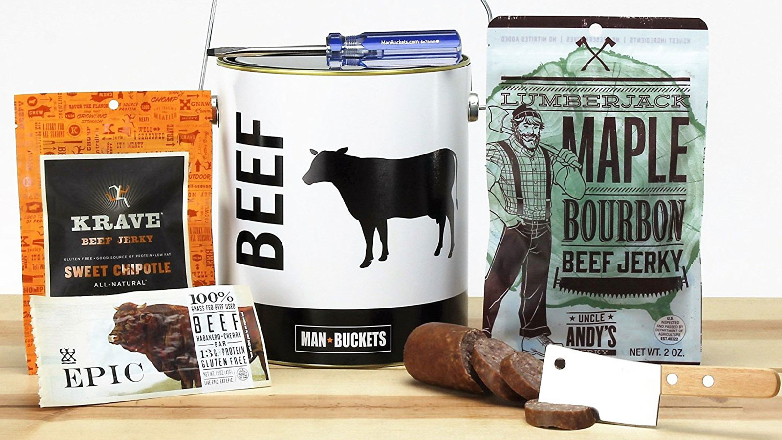 ManBuckets Beef Bucket Gift Basket | Gifts For Men | Gift Baskets For Men