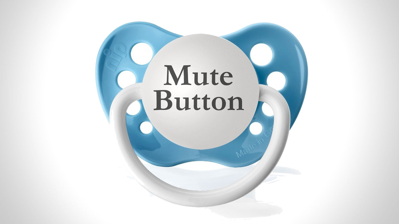 Mute Button Pacifier | gifts for men | gifts for the new dad