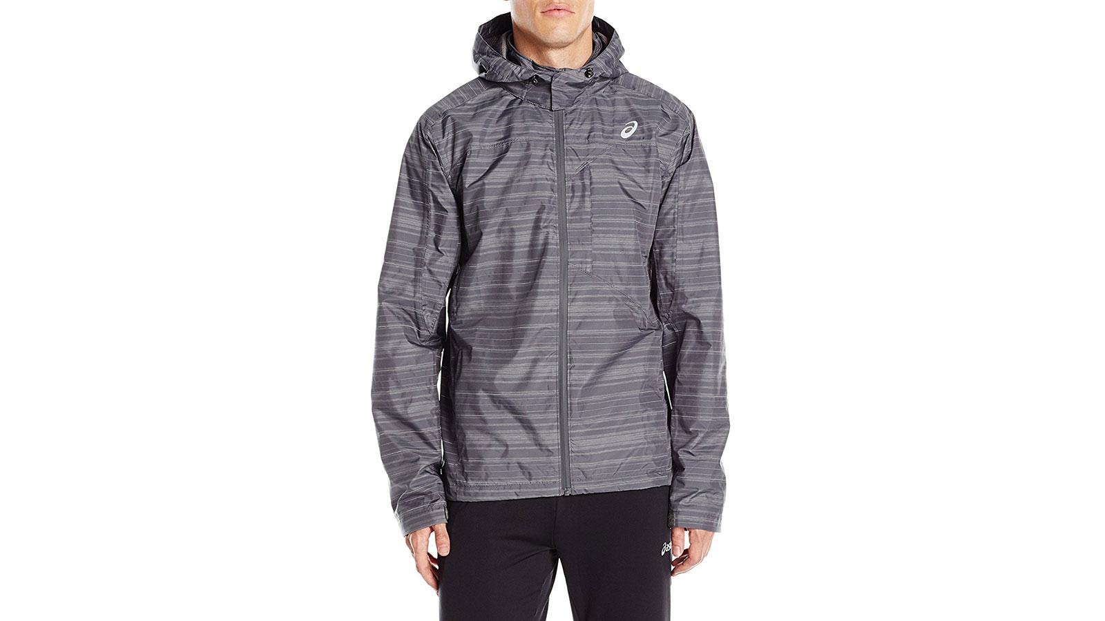 Asics Storm Shelter Running Men's Windbreaker Jacket   the best men's windbreakr jackets