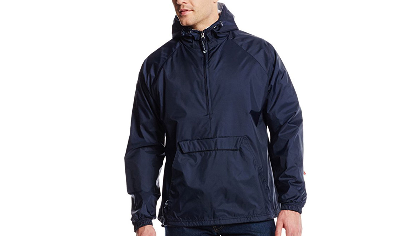 Charles River Apparel Men's Classic Solid Windbreaker Pullover   the best men's windbreakr jackets