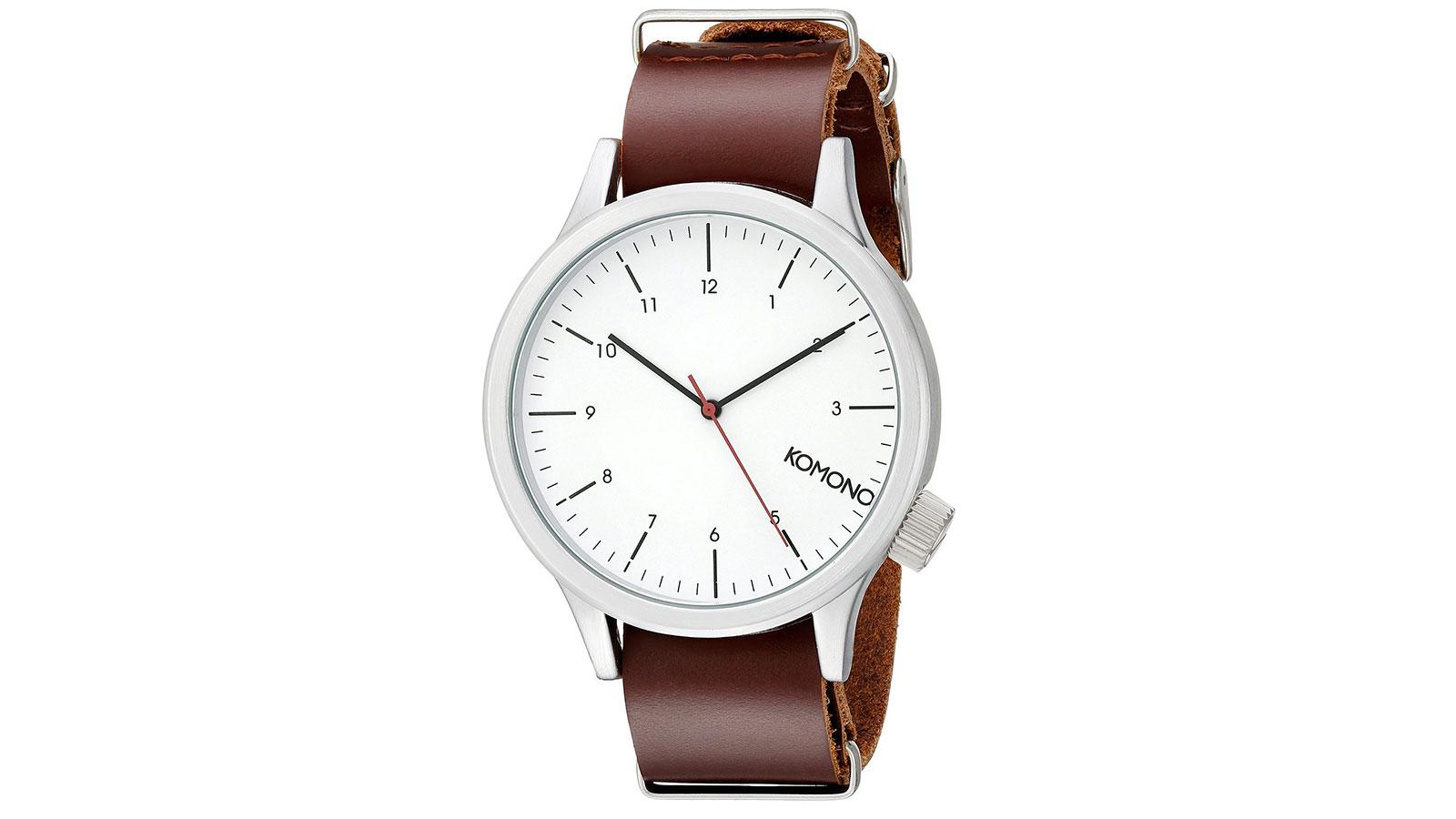Komono Magnus Quartz Red Watch   best men's watches under $100