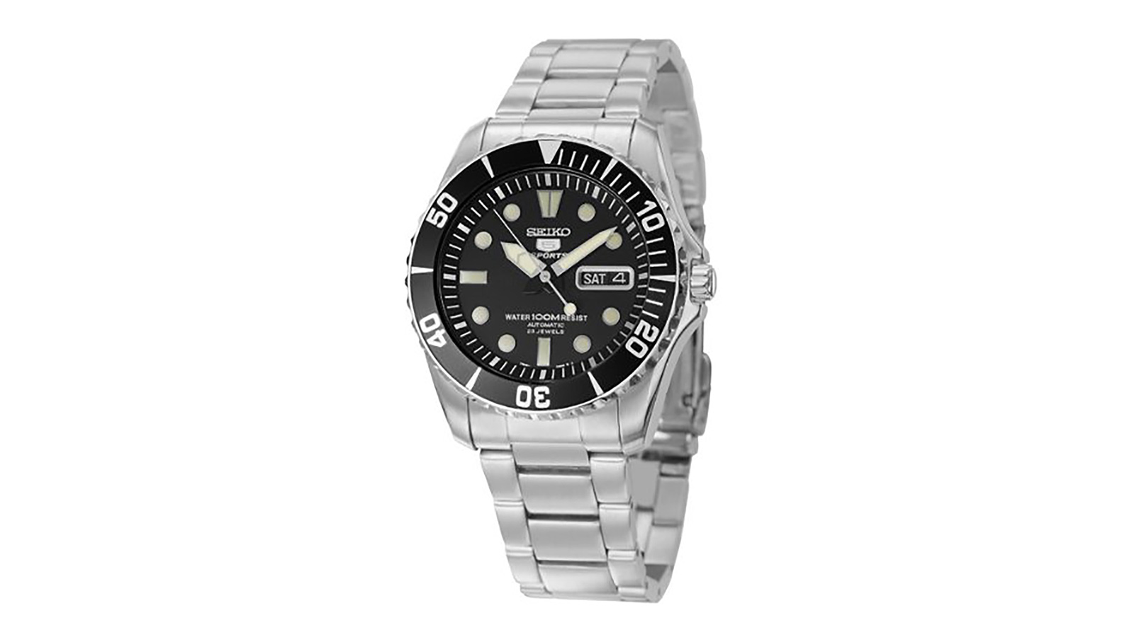 Seiko Men's SNZF17J1 5 Sports Automatic Stainless Steel Watch   the best men's watches under $200