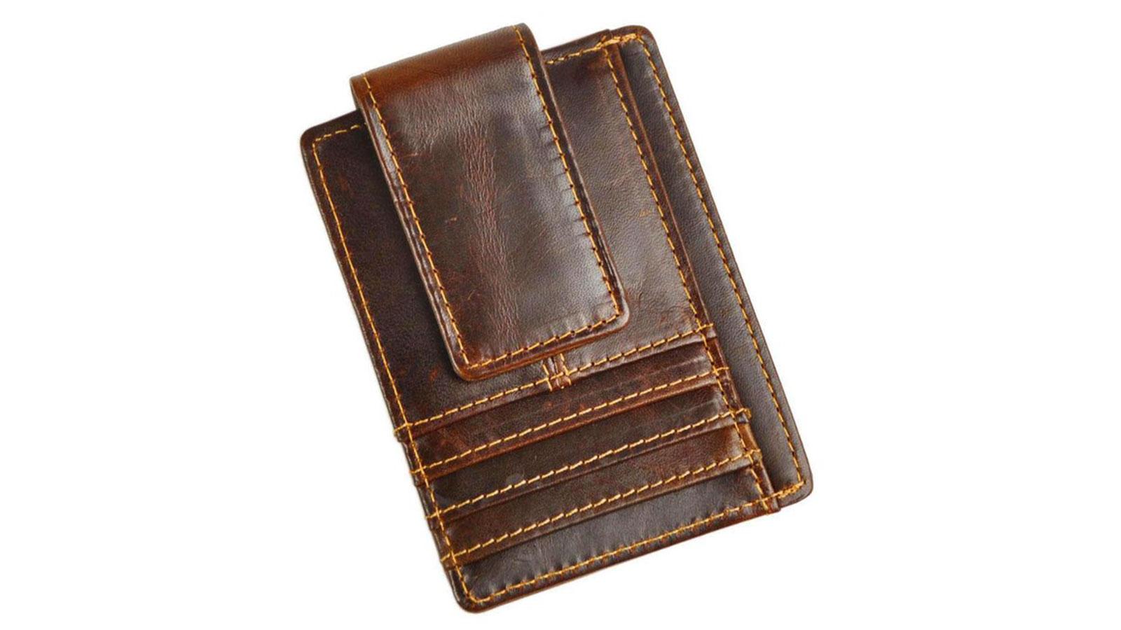 Le'aokuu Genuine Leather Magnet Money Clip | best money clip