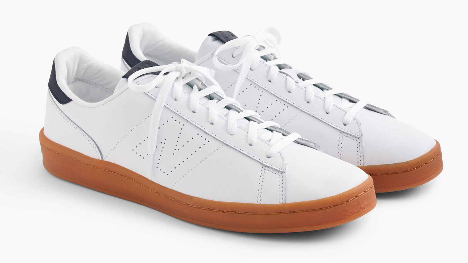 New Balance for J. Crew 791 Leather White Men's Sneakers | best men's white sneakers