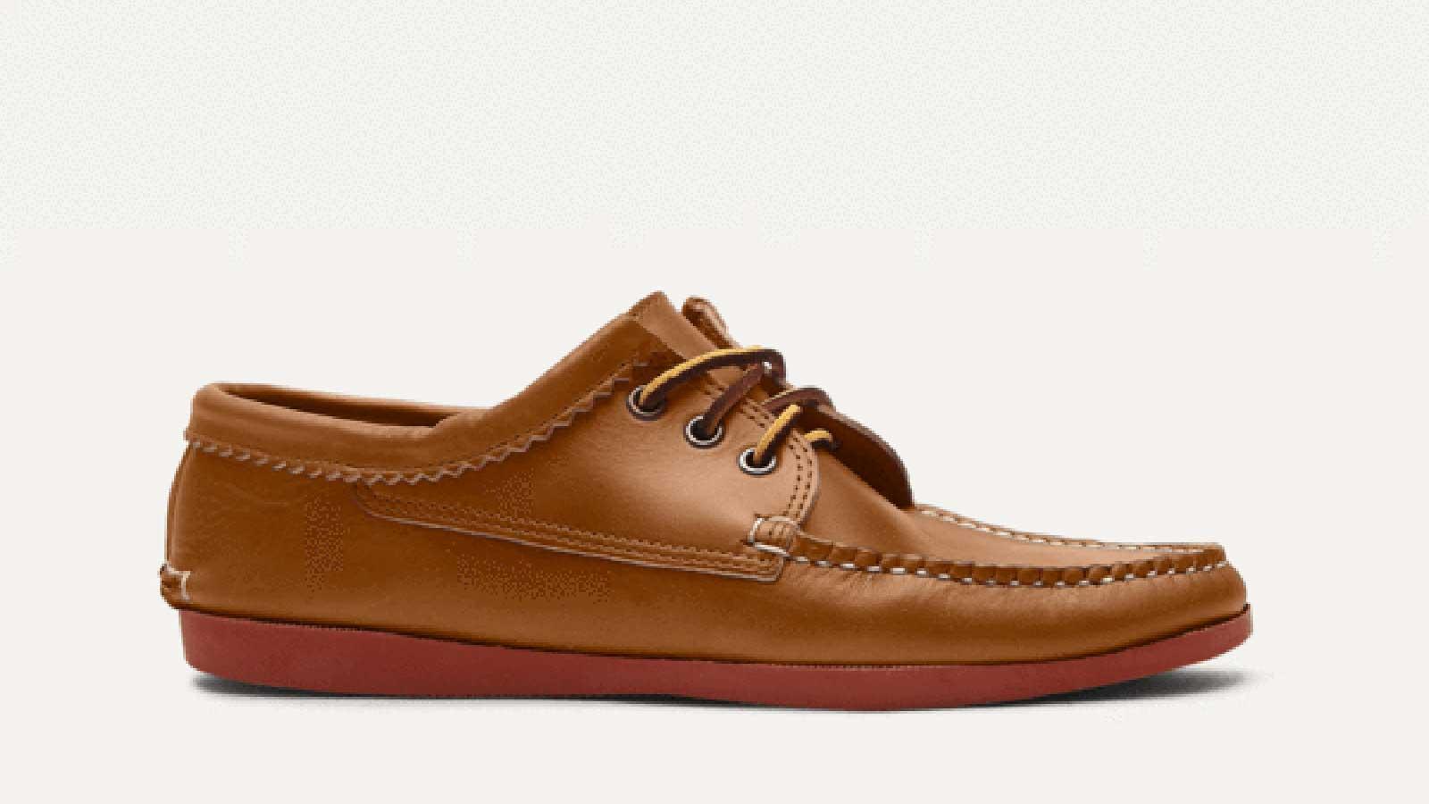 Quoddy Blucher Men's Boat Shoe   best mens boat shoes